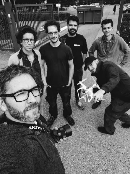 Equipe de tournage au complet